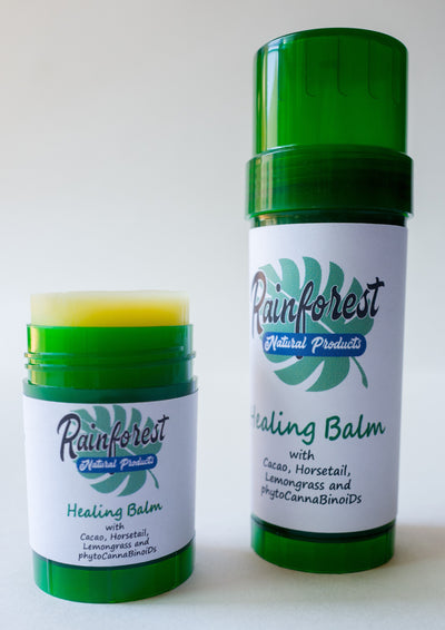 HEALING BALM - With Cacao, Horsetail, Lemon Grass & Hemp Flower Oil - Alexa's Botanicals