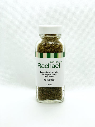 RACHAEL - Detox Bath Salts Infused With Full Spectrum Hemp Flower Oil - Alexa's Botanicals