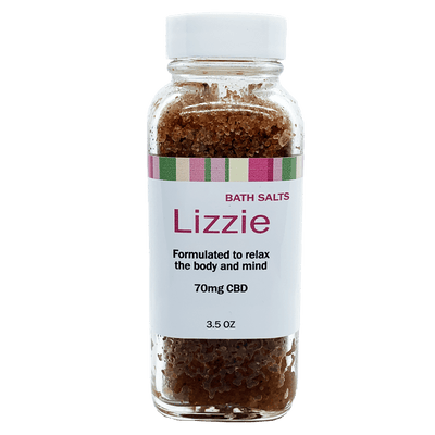 LIZZIE - Bath Salts Infused With Full Spectrum Hemp Flower Oil
