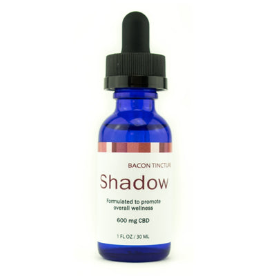 CBD infused tincture - bacon flavored for pets - Shadow