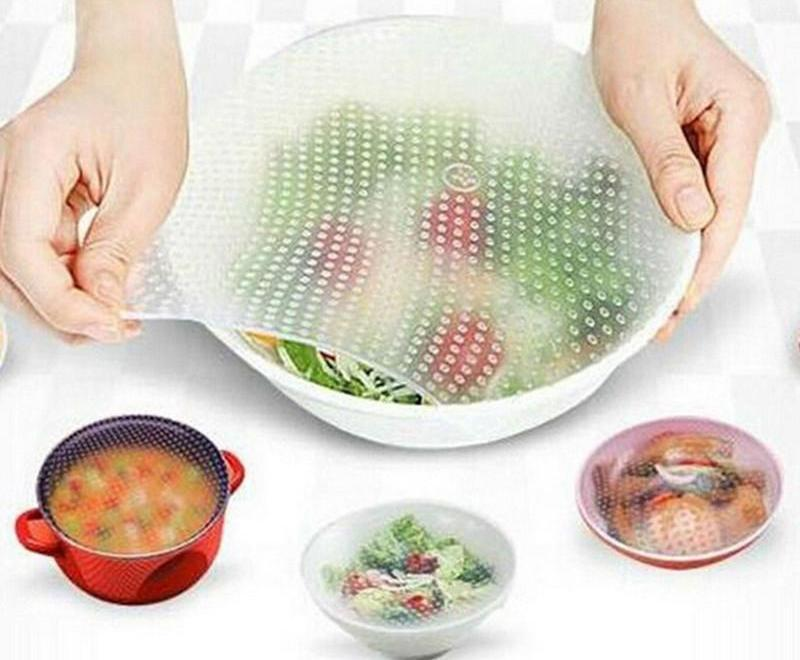 4 Piece Set Silicone Food Savers