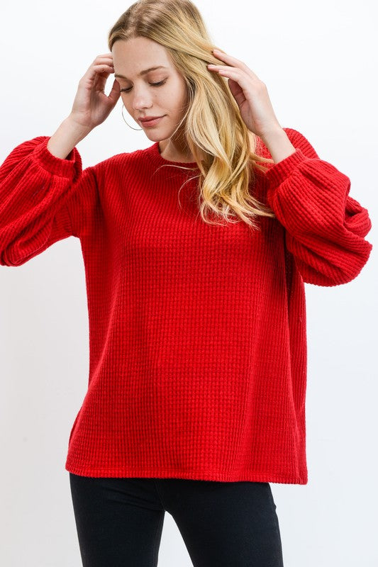 Cherry Red Thermal Top