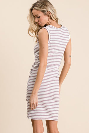 Lavender Love Striped Dress