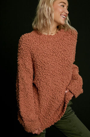 Cocoa-zy Popcorn Sweater
