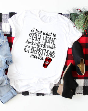 Stay Home Christmas Tee