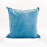 Moroccan Blue sabra silk pillow