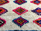 Moroccan Azilal Rug, Colorful Diamonds - 7.2 x 4.8 ft
