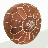Morocco pouf in Brown, made in Marrakech, footstool, Toronto, Canada