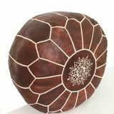 Moroccan Pouf in Dark Brown, handmade in Morocco