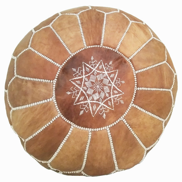 natural Moroccan leather pouf canada, Moroccan leather pouf