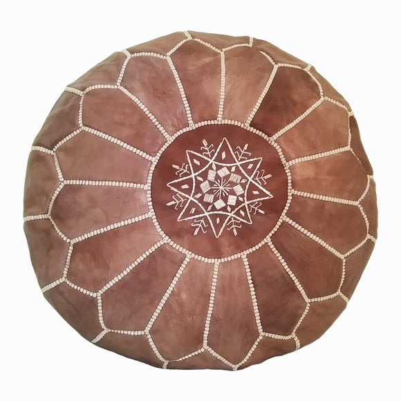 Moroccan leather pouf Canada, Moroccan pouf Canada, pouf