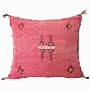 Pink Moroccan Sabra Silk Cushion