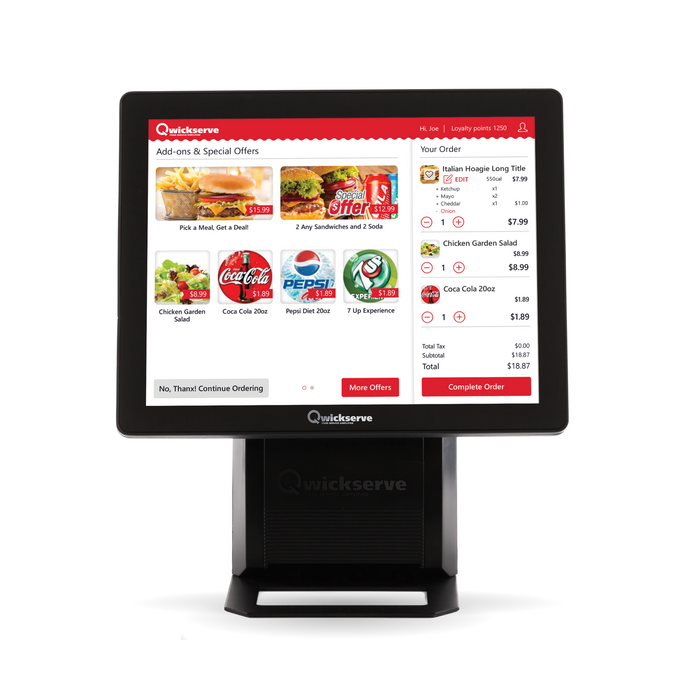 QwickServe® Self-service Ordering Kiosk