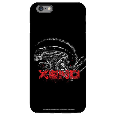 Alien Pattern Black and White Phone Case