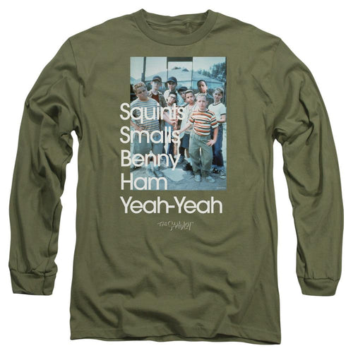 The Sandlot Names Green Long Sleeve