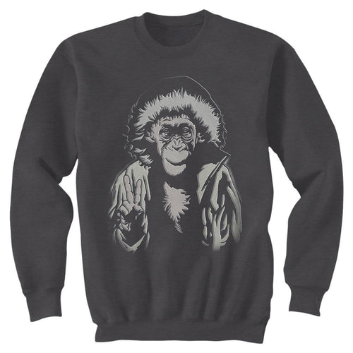 War for the Planet of the Apes Bad Ape Unisex Nickel Grey Sweatshirt