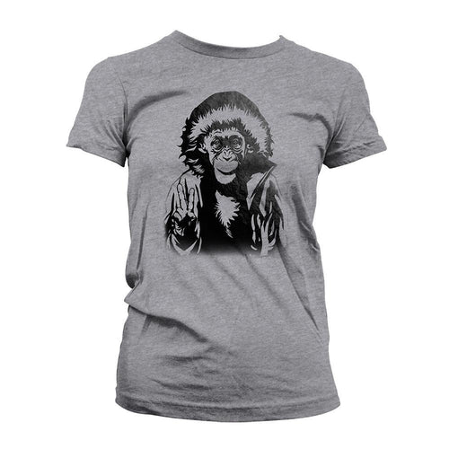 War for the Planet of the Apes Bad Ape Peace Women's Dark Heather Grey T-Shirt