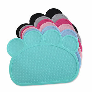 Paw Print Shaped Dog Placemat