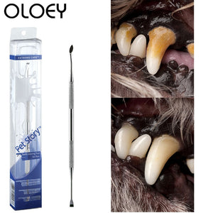 Stainless Steel Double Head Dog Toothbrush