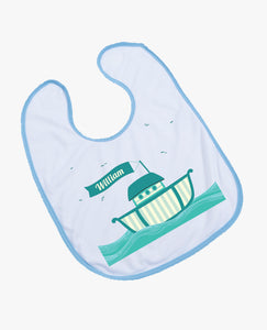 Boat - Personalised Bib - The Print Cave