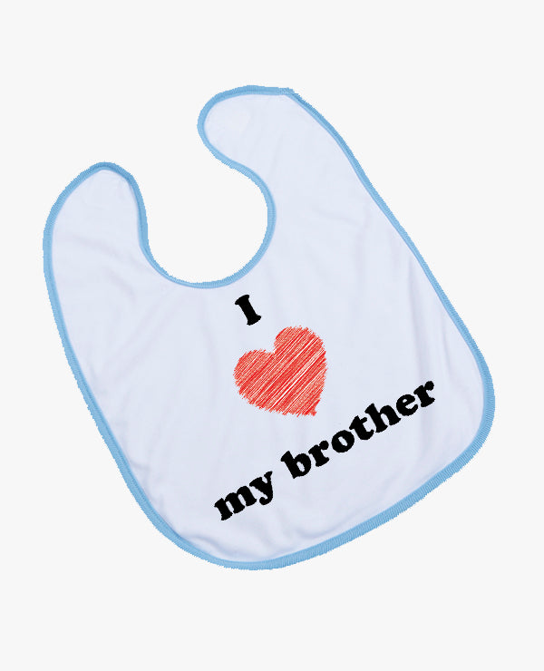 I Heart My Brother - Bib - The Print Cave