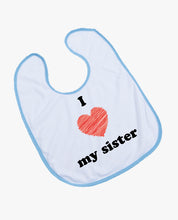 I Heart My Sister - Bib - The Print Cave