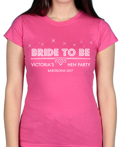 Bride to be - Tshirt / Vest - The Print Cave