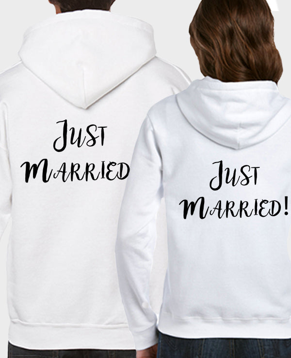 Just Married Back - Hoodie Set - The Print Cave