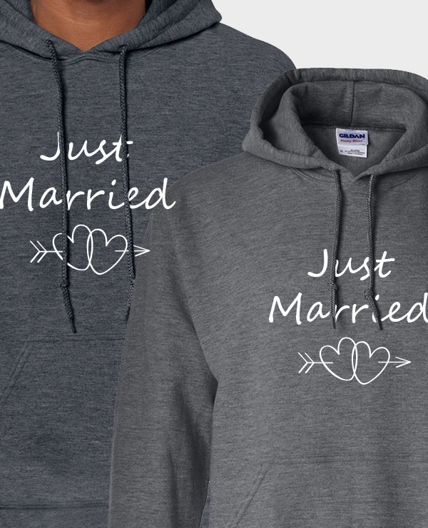 Just Married Hearts - Hoodie Set - The Print Cave