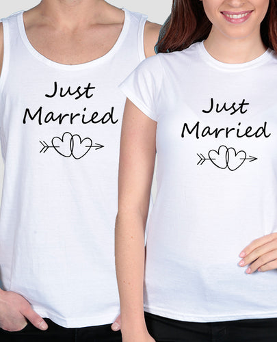 Just Married Hearts Set - The Print Cave