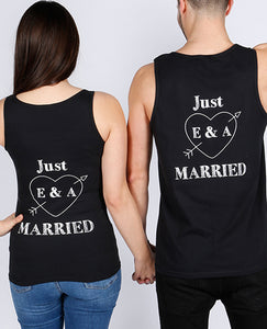 Just Married Initials & Heart Set - The Print Cave