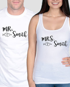 Mr & Mrs Love Hearts Set - The Print Cave