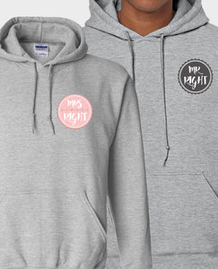 Mr & Mrs Right - Hoodie Set