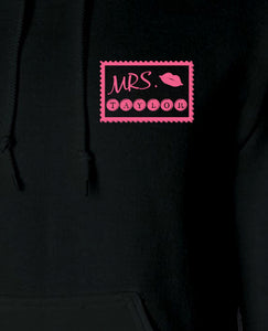 Mr & Mrs Travel Stamps - Hoodie Set - The Print Cave