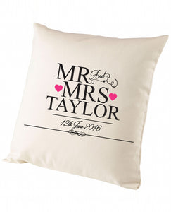 Officially Mr & Mrs - Cushion - The Print Cave