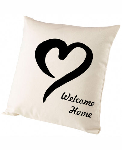 Welcome Home Heart - Cushion - The Print Cave