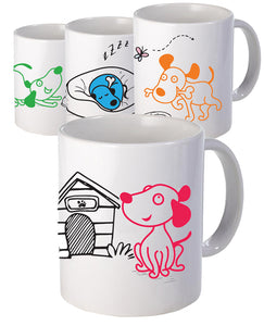 'Lola' The Dog Set -  Mug - The Print Cave