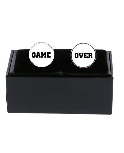 Game Over - Cufflinks - The Print Cave