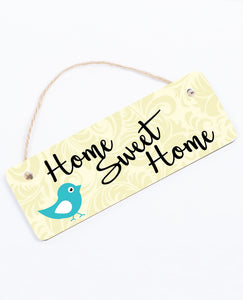 Home Sweet Home Blue Bird - Hanging Sign - The Print Cave