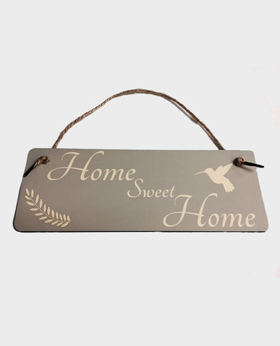 Home Sweet Home Hummingbird - Hanging Sign - The Print Cave