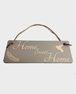 Home Sweet Home Hummingbird - Hanging Sign