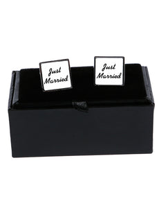 Just Married - Cufflinks - The Print Cave