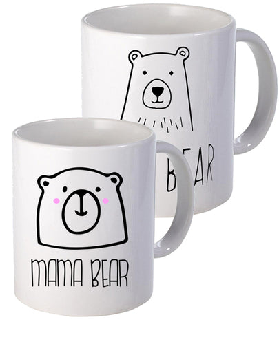 Mama & Papa Bear Set - Mug - The Print Cave