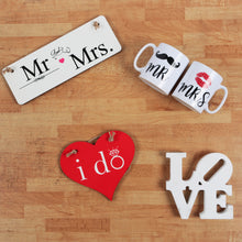 Officially Mr & Mrs - Hanging Sign - The Print Cave