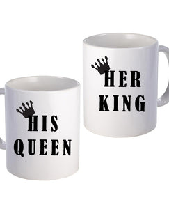 King & Queen - Mug Set - The Print Cave