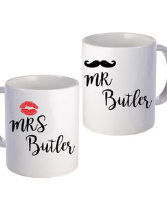 Kiss & Tash - Mug Set - The Print Cave