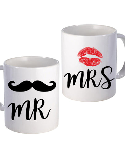 Mr & Mrs - Mug Set - The Print Cave