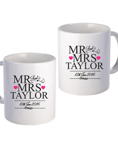 Officially Mr & Mrs - Mug Set - The Print Cave