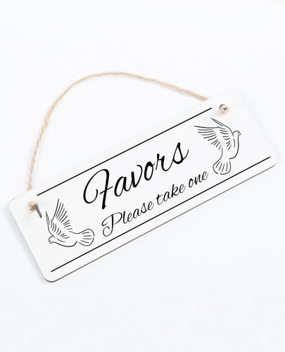 Favors - Hanging Sign - The Print Cave