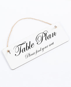 Table Plan - Hanging Sign - The Print Cave